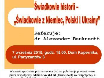 Świadkowie historii z Niemiec, Polski i Ukrainy