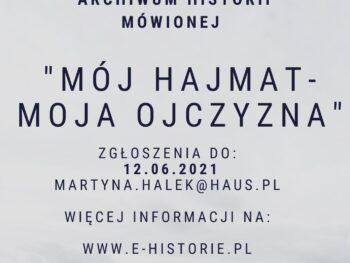 "Wettbewerb ""Mój Hajmat – Moja ojczyzna"""